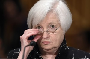 Federal Reserve Board Chair Janet Yellen testifies on Capitol Hill in Washington, Thursday, Feb. 11, 2016, before the Senate Banking Committee hearing on: 'The Semiannual Monetary Policy Report to the Congress.' (AP Photo/Susan Walsh) ORG XMIT: DCSW101